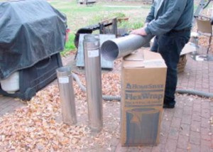 Round stainless steel ridgid pipe