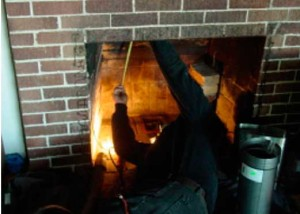 Measuring for wood hearth stove install with stainless steel liner