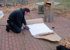 Cutting U.L. listed flex wrap insulation